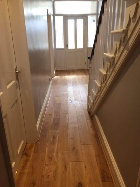 Engineered Wood Flooring Hallway & Brintons Stair Runner 3