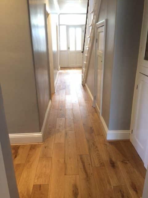 Engineered Wood Flooring Hallway & Brintons Stair Runner 4