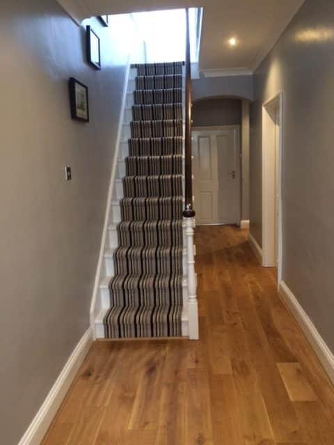 Engineered Wood Flooring Hallway & Brintons Stair Runner