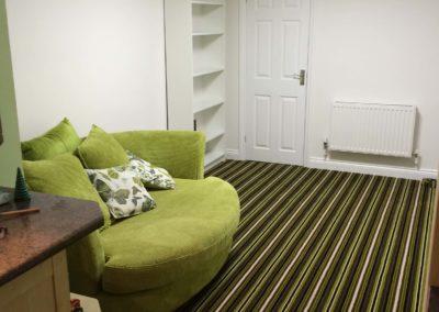Green Striped Carpet