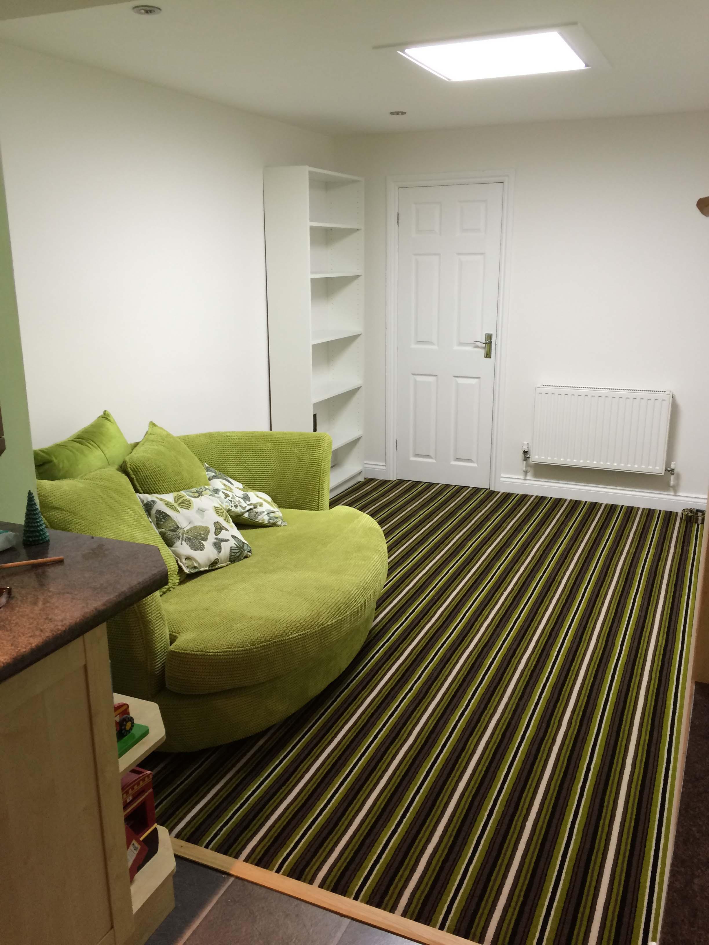 Green Striped Adams Carpet 0141