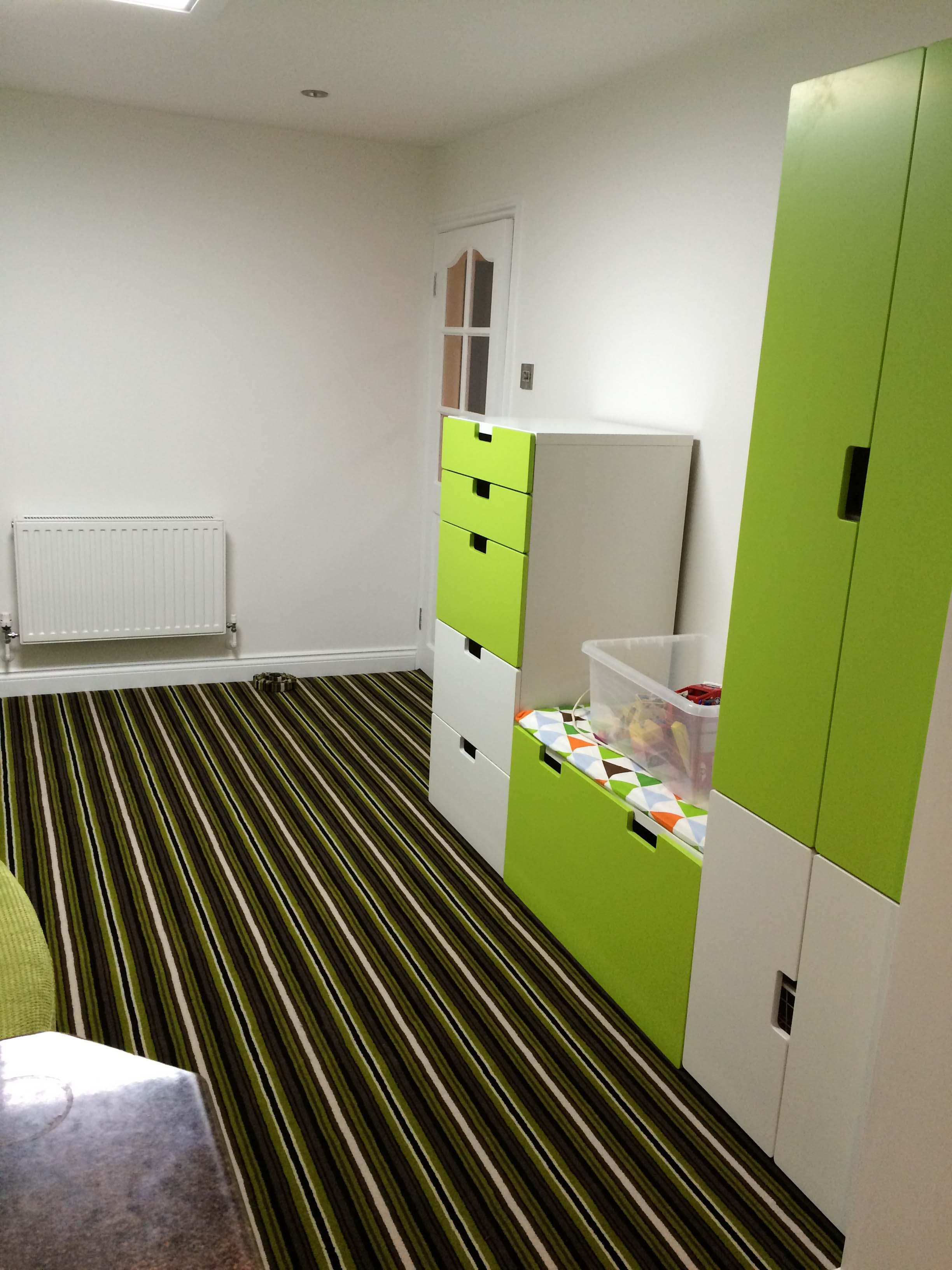 Green Striped Adams Carpet 0142
