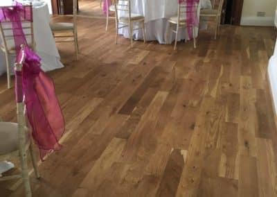 Commercial Wedding Venue Wooden Flooring