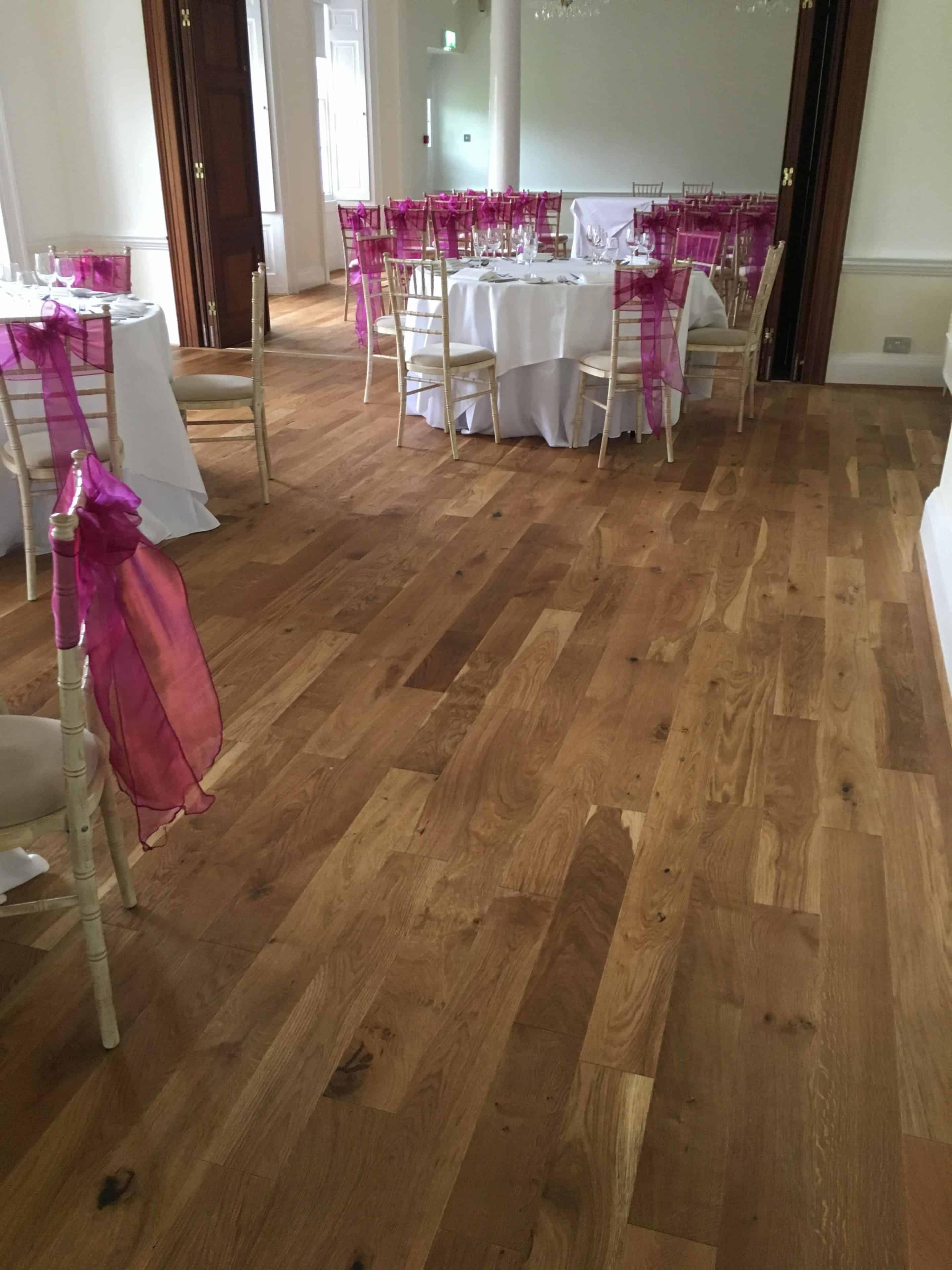 Wood Floor Installation At Holbrook Manor Wedding Venue 0249
