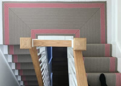 Woven Stair Runner with Stair Rods