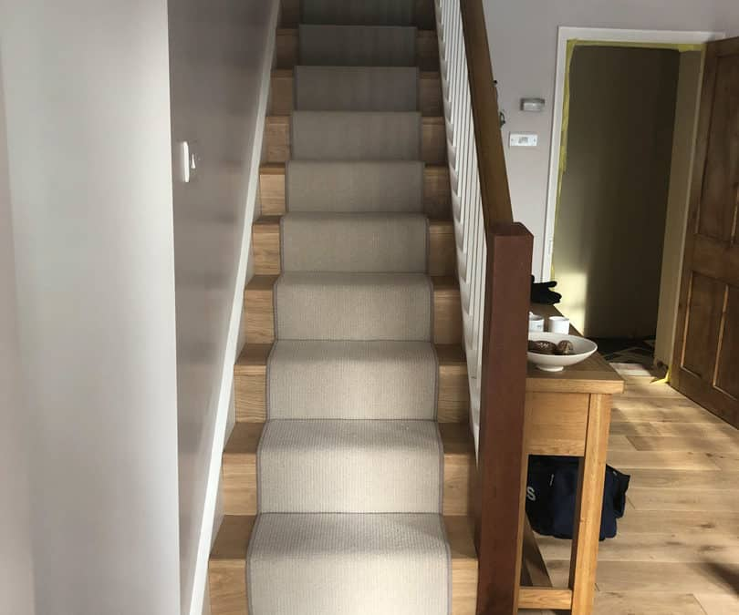Domestic Staircase with Stair Runner
